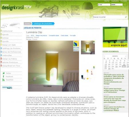 luminária CLIP  IF 2012